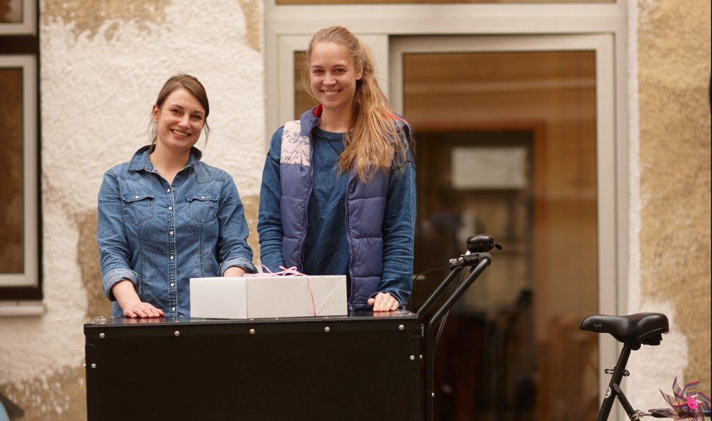 Die kuchentratsch Gründerinnen Katharina und Katrin