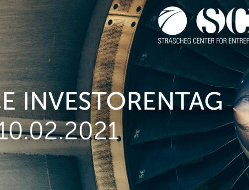 SCE Investorentag am 10. Februar 2021: Jetzt noch zum Pitch-Event bewerben