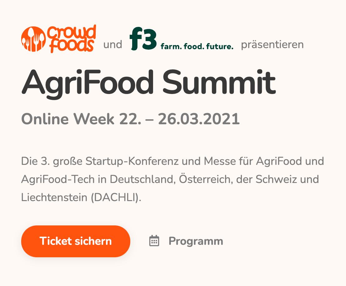 AgriFood Summit Online Week vom 22. bis 26. März 2021: Jetzt mit Rabatt anmelden!